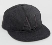 Armani Snapback-Kappe aus Jeans Grau