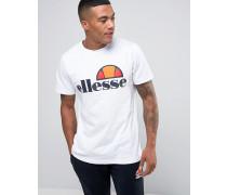 T-Shirt mit klassischem Logo Weiß