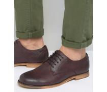 Derby-Schuhe in dunklem Burgunderrot Rot