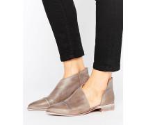Royale Flacher Schuh Grau