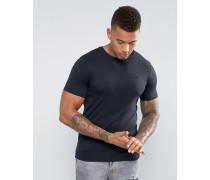 Core T-Shirt mit Rundhalsausschnitt Schwarz