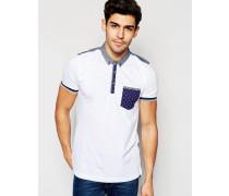 Braves Soul Polohemd mit farblich abgesetzter Tasche Weiß