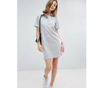 Clean Polohemd-Kleid Grau