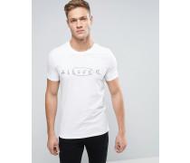 T-Shirt mit Rundhalsausschnitt und Stickerei Weiß