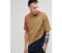 Danger Gelbes T-Shirt mit Einsätzen Gelb