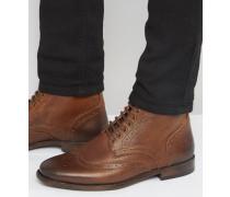 Budapester-Stiefel aus hellbraunem Leder Bronze