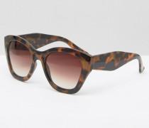 Oversize-Sonnenbrille in Schildpattoptik Braun