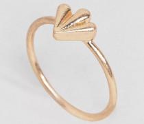 Femme Ring mit Blattmotiv Gold