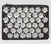 Clutch mit Gänseblümchen-Verzierung Mehrfarbig