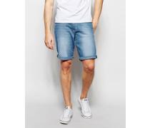 Shorts in heller Tropic Wind Waschung Blau