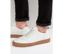 Sneaker aus Leder Weiß