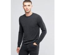 Pullover aus Kaschmirwollmischung mit Rundhalsausschnitt Grau