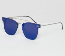 Runde Sonnenbrille Blau