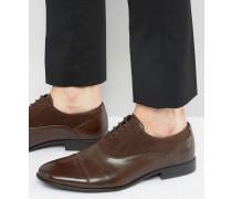 Oxford-Schuhe aus braunem Kunstleder Braun