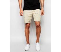 Shorts in Sandfarbe Steingrau