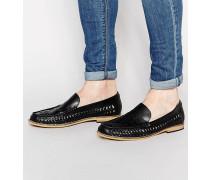 Schwarze Loafer Schwarz