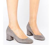 Ariane Schuh mit halbhohem Absatz Grau