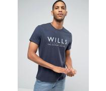 """T-Shirt mit """"Wills""""-Aufschrift, in Marine Marineblau"""