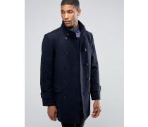 Mantel mit Stehkragen Marineblau