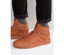 Knöchelhohe Sneaker in Orange Orange