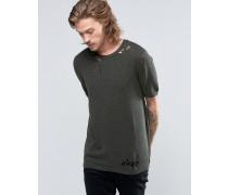 Strick-T-Shirt mit Laufmaschendesign Grün