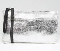 Umhängetasche aus Leder Silber