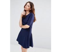 Katrina Kleid mit Faltendetail Blau