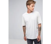 T-Shirt mit umgeschlagenen Bündchen Weiß