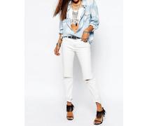 Awesome Baggies Gebrochen weiße Jeans im Used-Look Cremeweiß