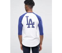 LA Dodgers Athletics Raglan-T-Shirt mit 3/4-Ärmeln Weiß