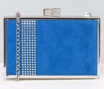 Hartschalen-Clutch Blau