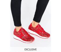 x Saucony Shadow 5000 Glitzernde Sneaker Rot