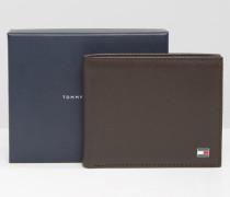 Eton Kleine Brieftasche aus braunem Leder Braun