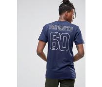 Patriots T-Shirt mit Rücken-Print Blau