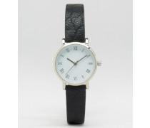 Zierliche Armbanduhr im Western-Stil Schwarz