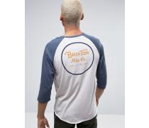 Wheeler T-Shirt mit 3/4-Ärmeln und Rückenaufdruck Weiß