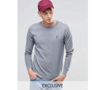 Fila Vintage-Pullover mit Rundhalsausschnitt Grau