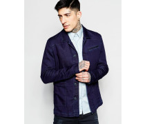 Jeans-Hemdjacke Blau