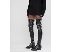 KARZA Overknee-Stiefel im Western-Stil Schwarz