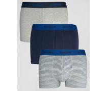3er Pack Boxers Marineblau