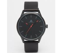 Armbanduhr in Schwarz und Rot Rot