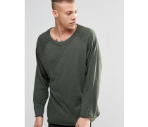 Goliath Sweatshirt mit Rundhalsausschnitt und unbearbeitetem Saum Grün