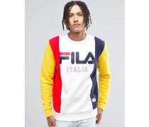 Fila Schwarzes Sweatshirt im Retro-Look Weiß