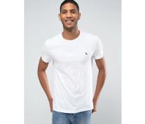 T-Shirt in klassischer regulärer Passform in Altweiß Weiß