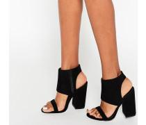 HALFWAY Sandalen mit Absatz Schwarz