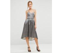 Bandeau-Kleid mit Herz-Dekolleté Grau
