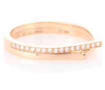 Ring Antifer aus 18kt Roségold mit Diamanten