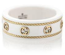 Ring Icon aus 18kt Gelbgold und weißem Zirkon