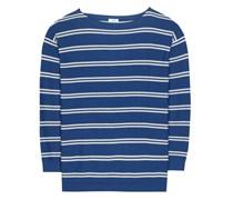 Gestreifter Pullover aus Baumwolle und Cashmere
