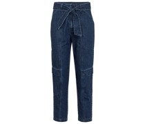 High-Rise Cropped Jeans Athena